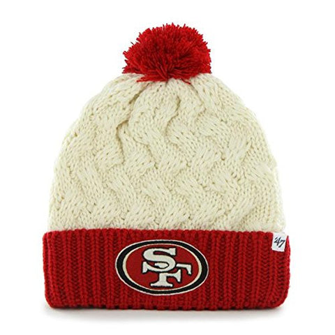 "San Francisco 49ers Women's 2-Tone ""Matterhorn"" Beanie Hat with Pom - NFL Ladies Cuffed Winter Knit Toque Cap"