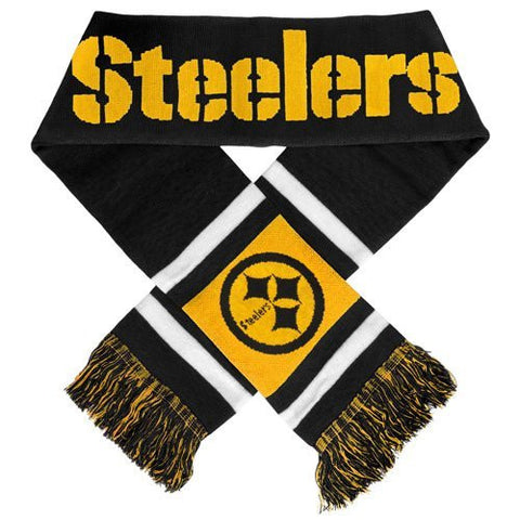 "Pittsburgh Steelers - 6.5"" x 70"" NFL Scarf - 2012 Woven Knit Jersey Scarf"