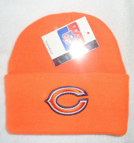 Chicago Bears Orange Beanie Hat - NFL Cuffed Cap