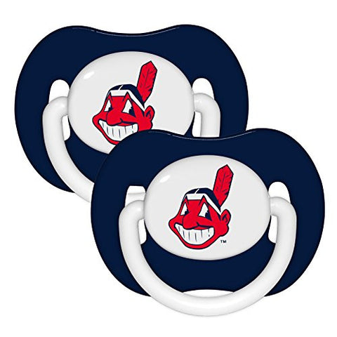 Baby Fanatic MLB Cleveland Indians 2-Pack Pacifiers