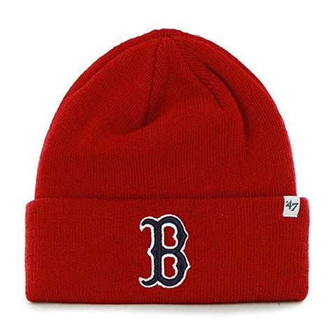 Boston Red Sox Red Cuff Beanie Hat - MLB Cuffed Winter Knit Toque Cap
