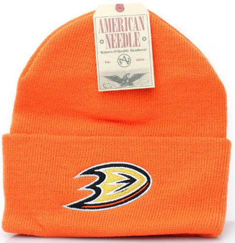 Anaheim Mighty Ducks NEW Authentic Beanie Toque Knit Hat