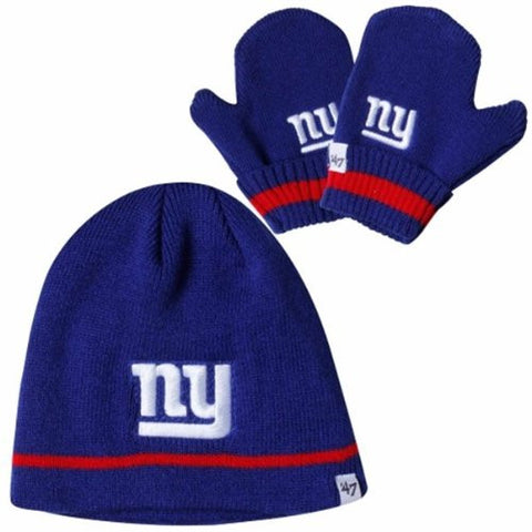 2dcd8e6b51af0 New York Giants Infant Newborn Beanie Hat and Glove Gift combo - NFL Baby  Knit