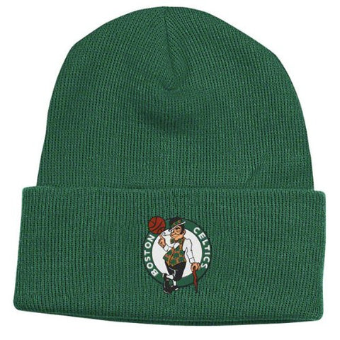 Boston Celtics Green Beanie Hat - NBA Cuffed Knit Toque Cap