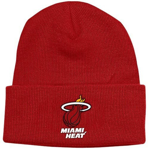 Miami Heat Maroon/Red Beanie Hat - NBA Cuffed Knit Toque Cap