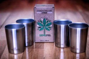4 pack - 10 oz. stainless steel kids cups - Greens Steel