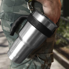 Convenient 30 oz. stainless steel tumbler handle - Greens Steel