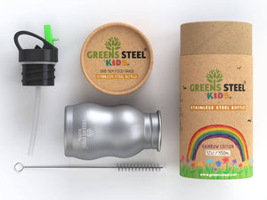 Stainless steel kids water bottle - Greens Steel