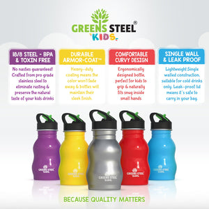 Kids Water Bottle - Stainless Steel