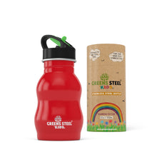 Stainless steel kids water bottle - Greens Steel - red