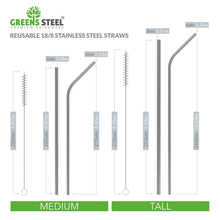 Stainless Steel Straw Set with cleaning brush (4 Pack) Eco Friendly Reusable Drinking Straws