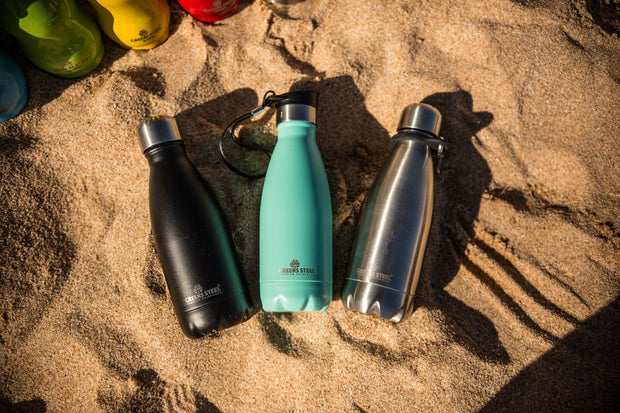 Reusable Stainless Steel Water Bottle - Greens Steel