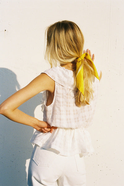 Frills Top | White