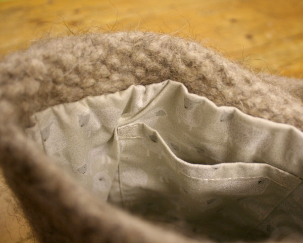 Spey Felted Bag in Light Brown