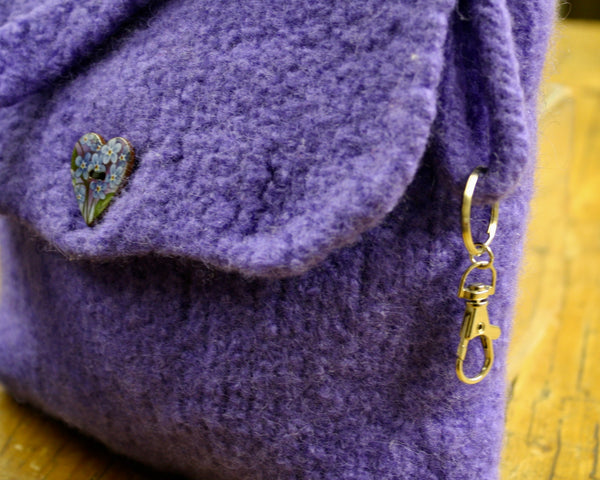 Spey Felted Wool Bag in Violet