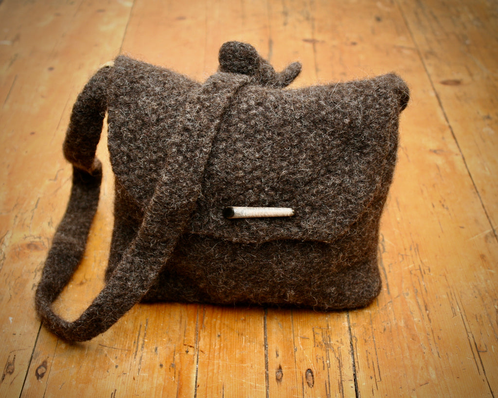 Spey Felted Wool Bag in Organic Jacob