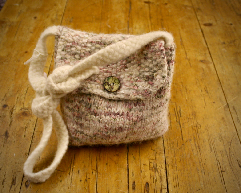 Spey Felted Wool Bag in Beige