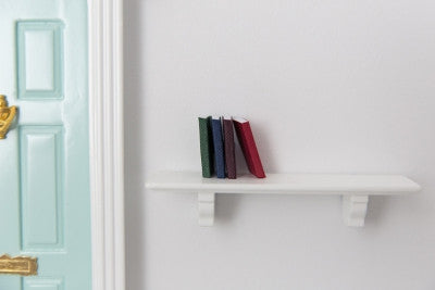 Shelf with set of books