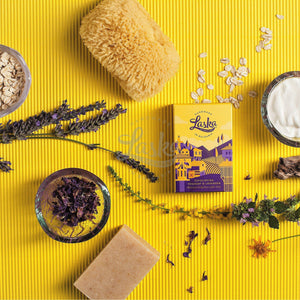 Bulgarian yoghurt & lavender natural soap with oats-Natural soap-Laska by nature
