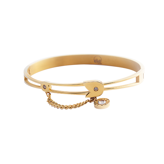 Gold Safety Pin Bracelet