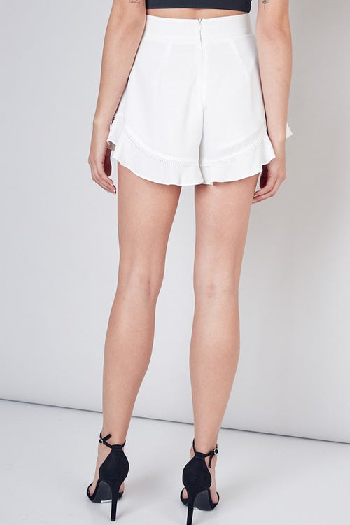 Harlow White Shorts