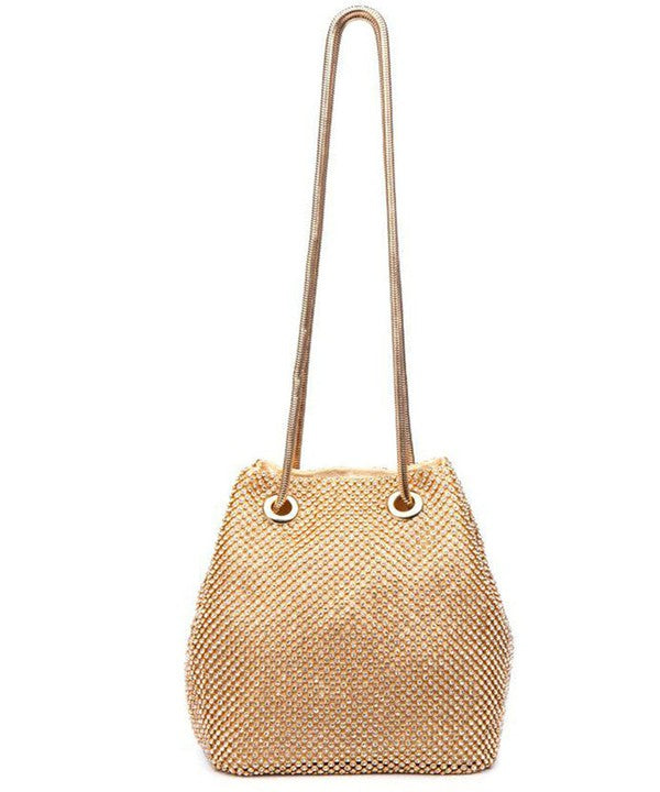 Khloe Gold Bucket Bag