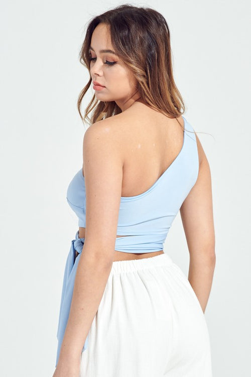 Erin Baby Blue Crop Top