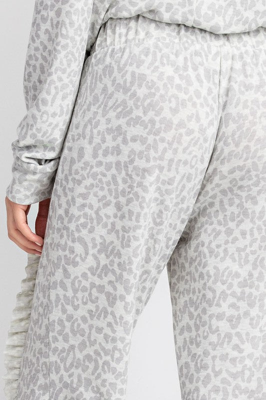 ANNA LEOPARD JOGGERS