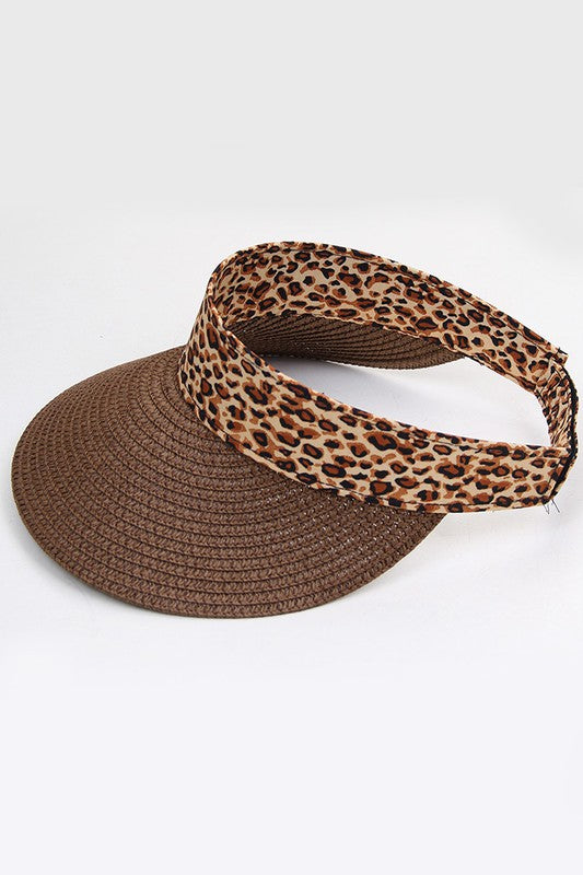 NOREEN LEOPARD VISOR BROWN