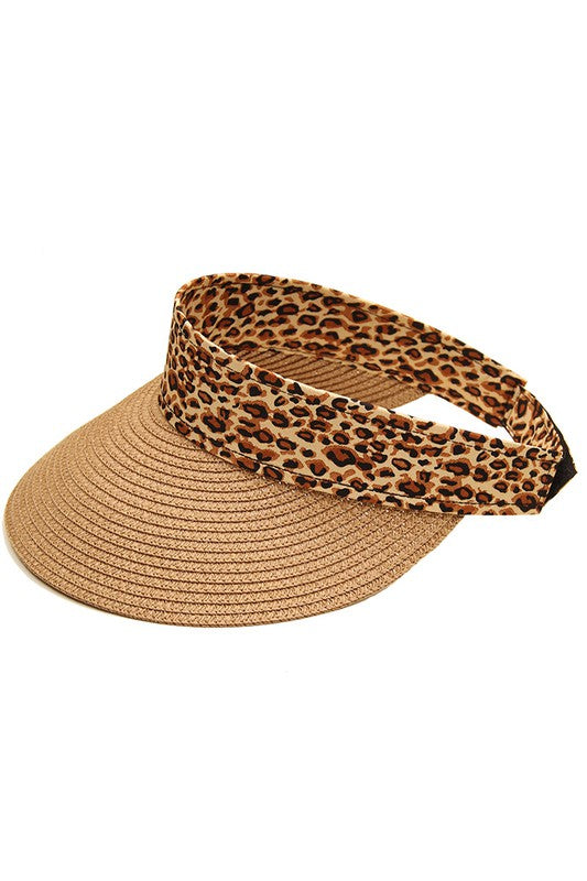 NOREEN LEOPARD VISOR TAUPE