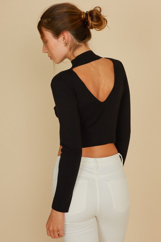 NATALIE MOCK NECK SWEATER