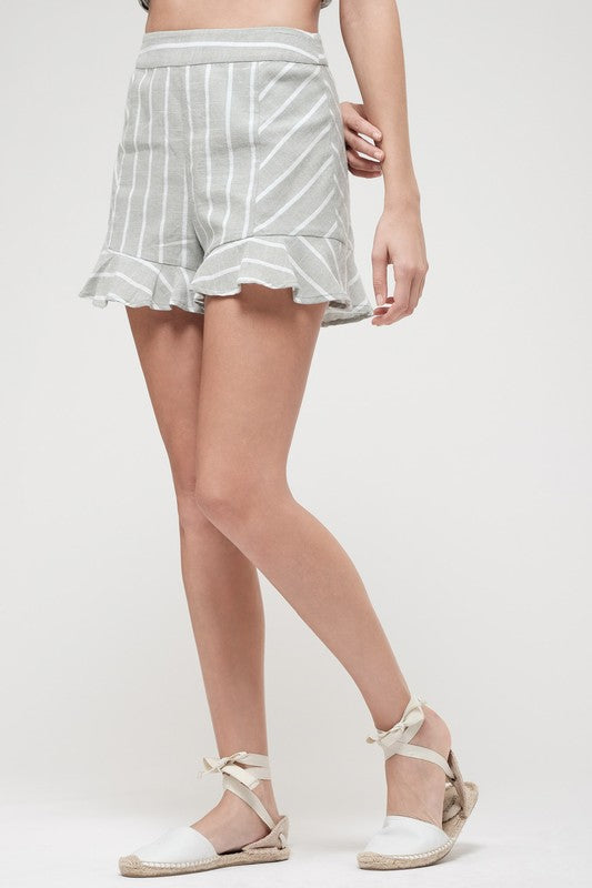 Sage Stripe Shorts