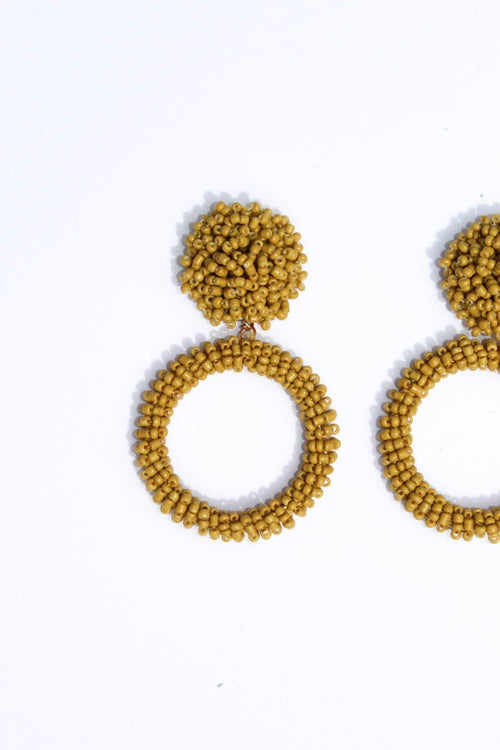 Adalee Mustard Earrings