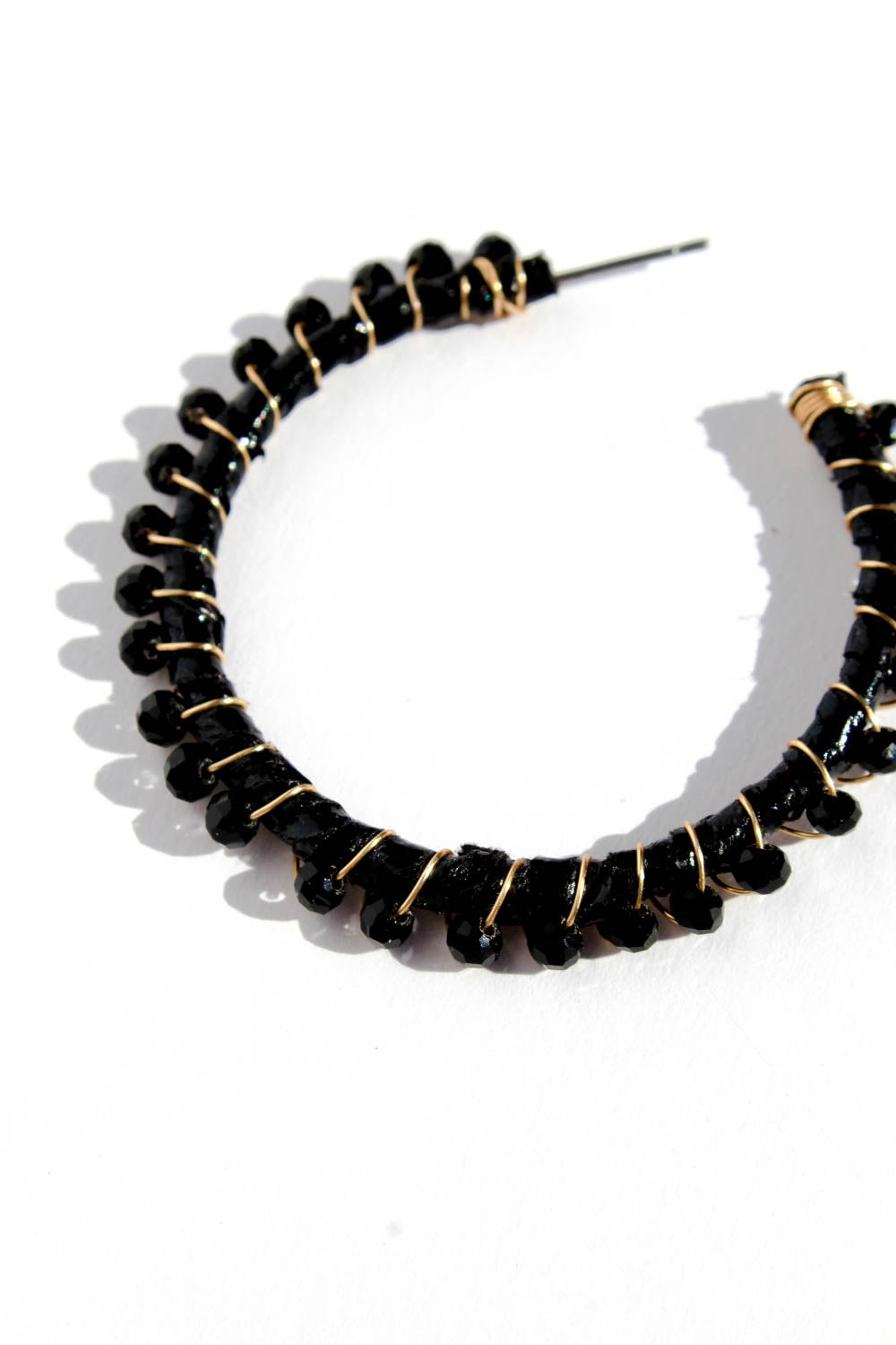 BINI BLACK HOOP EARRINGS