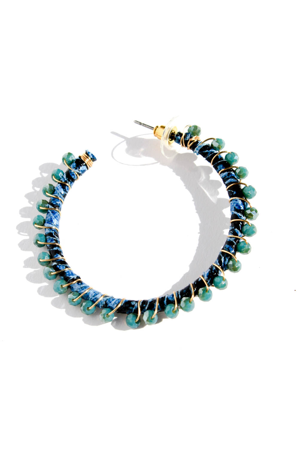 BINI BLUE HOOP EARRINGS