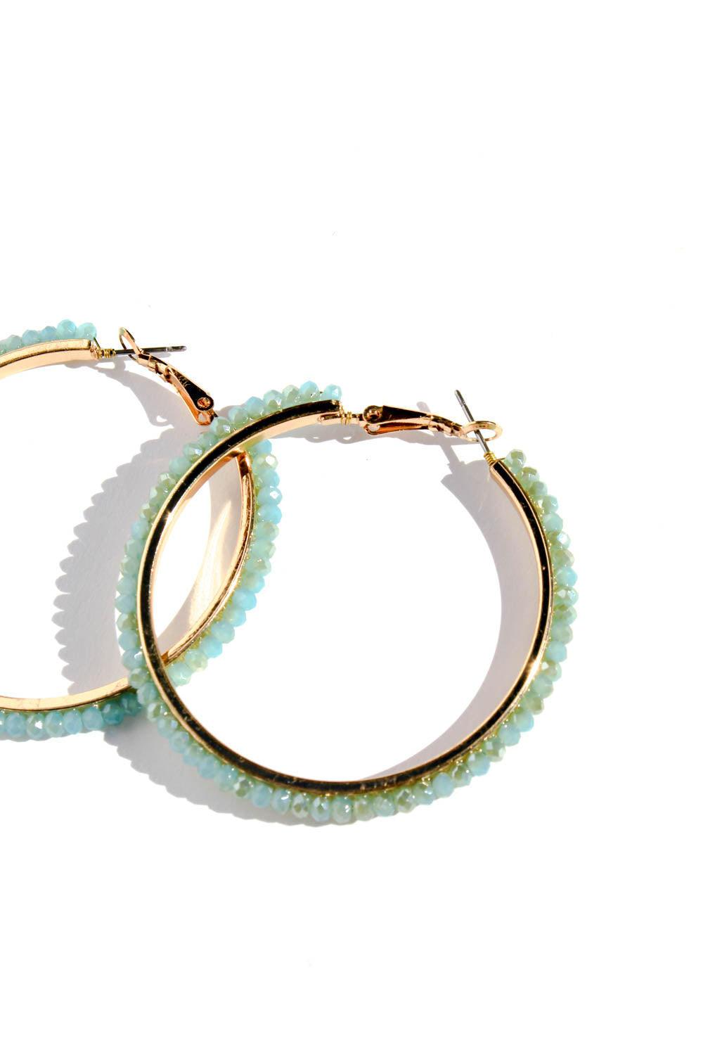 CHELLY BEADED HOOPS