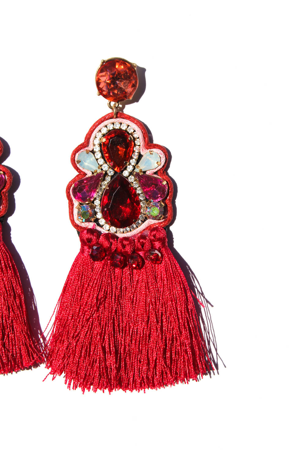 Daphne Red Statement Earrings