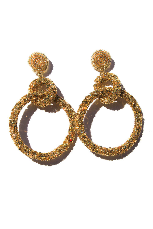 Disco Queen Gold Earrings
