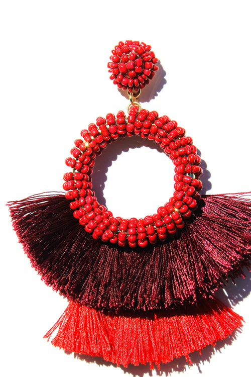 Gianni Red Hues Earrings