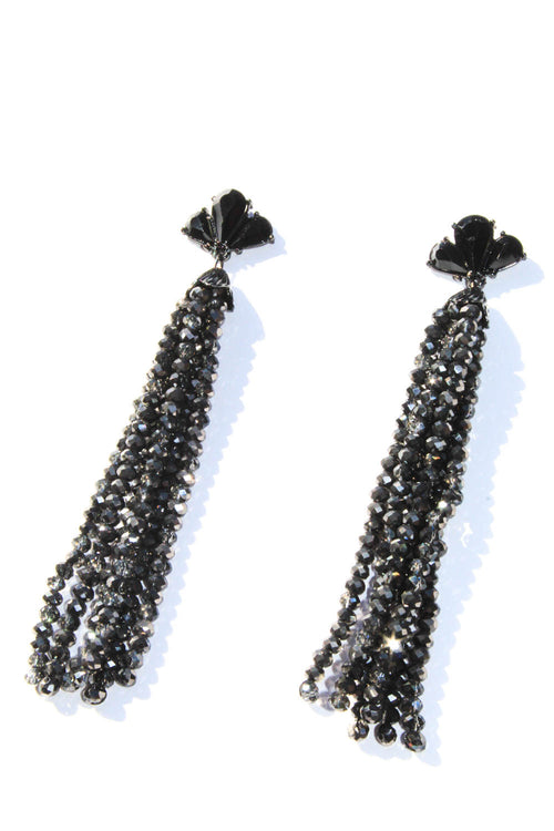 Girls Night Black Tassel Earrings