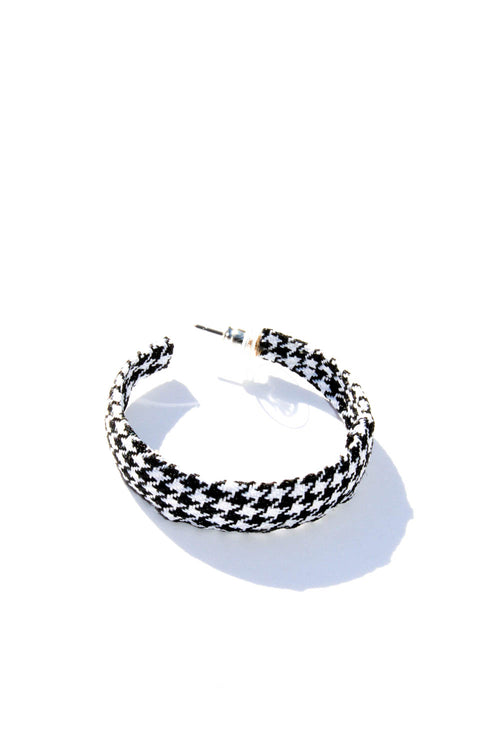 Holidaze Black And White Hoop Earrings