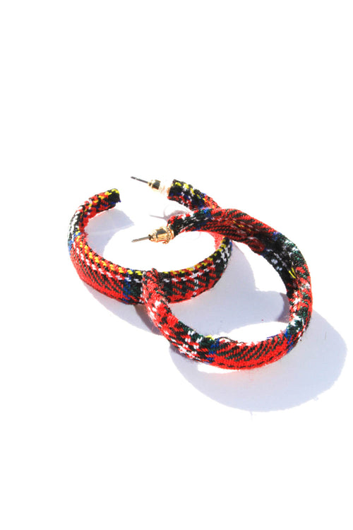 Holidaze Red Hoop Earrings