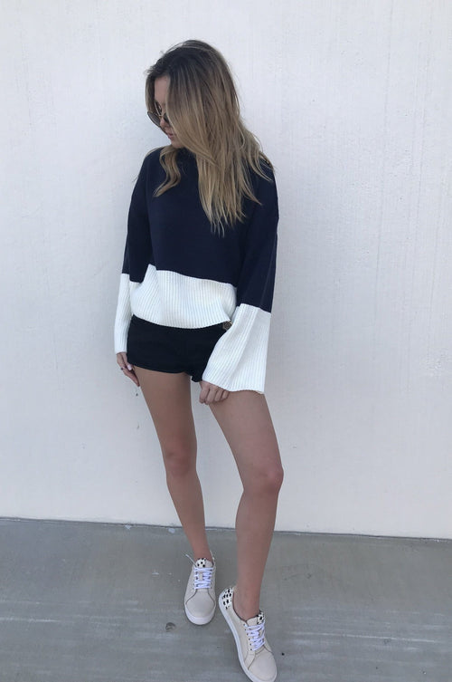 Greer Navy Sweater