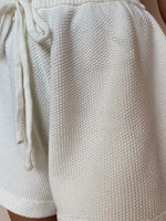 LULU KNIT SHORTS WHITE