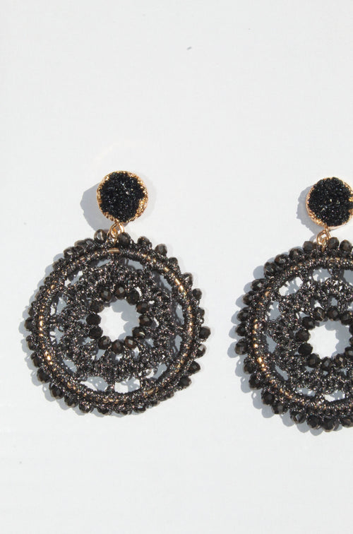 Antonina Black Earrings