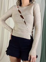 OATMEAL KNIT TOP