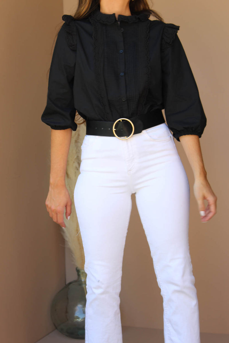 IRIS BUTTON DOWN BLOUSE