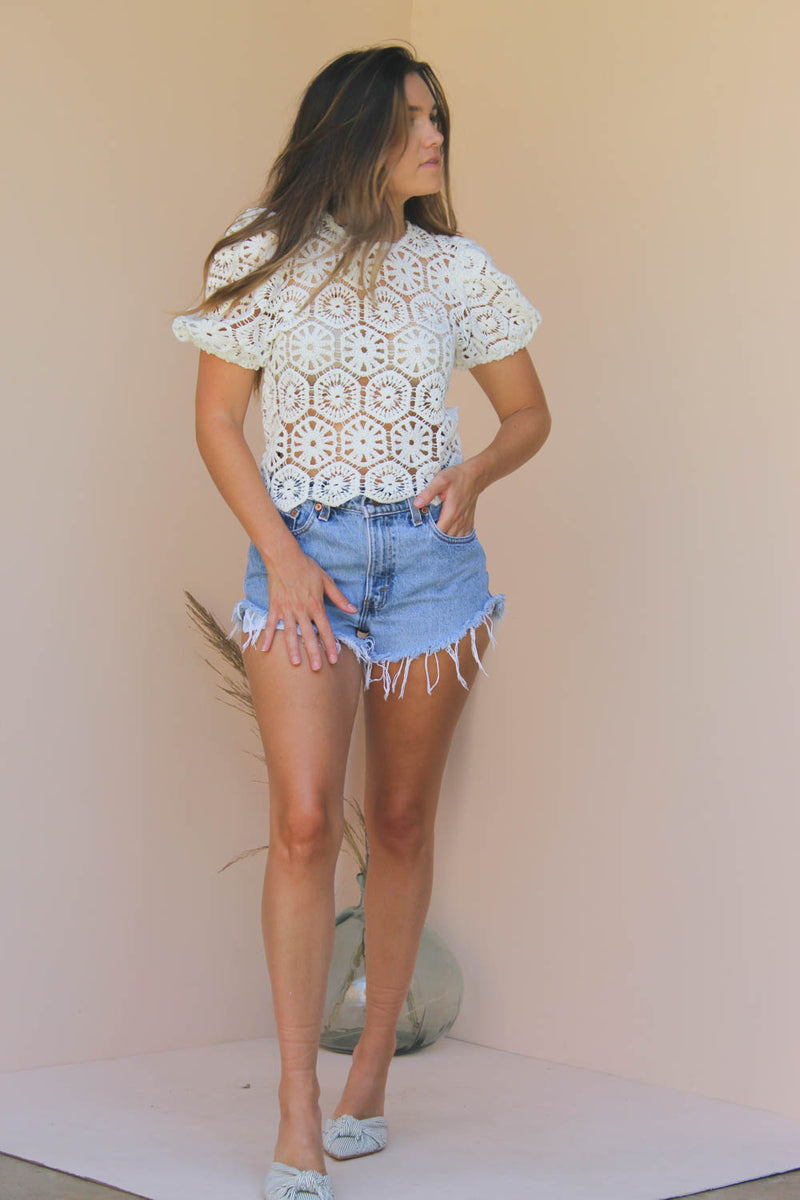 JANE CROCHET TOP