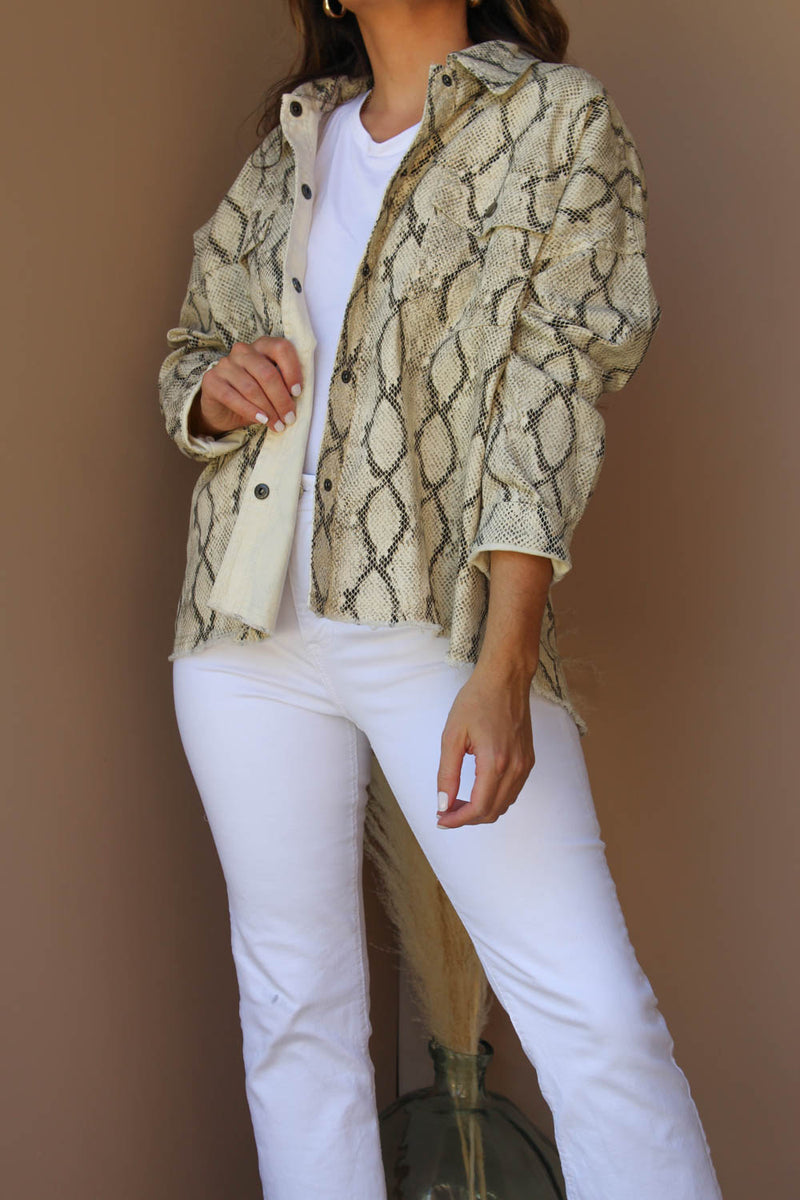 LISA SNAKE JACKET TAUPE