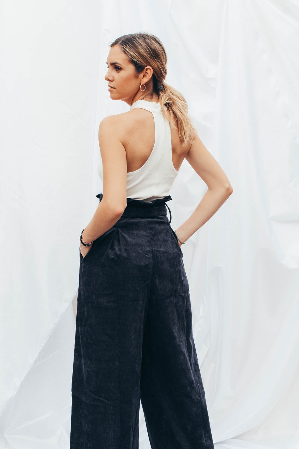 Mel Corduroy Pleated Pants